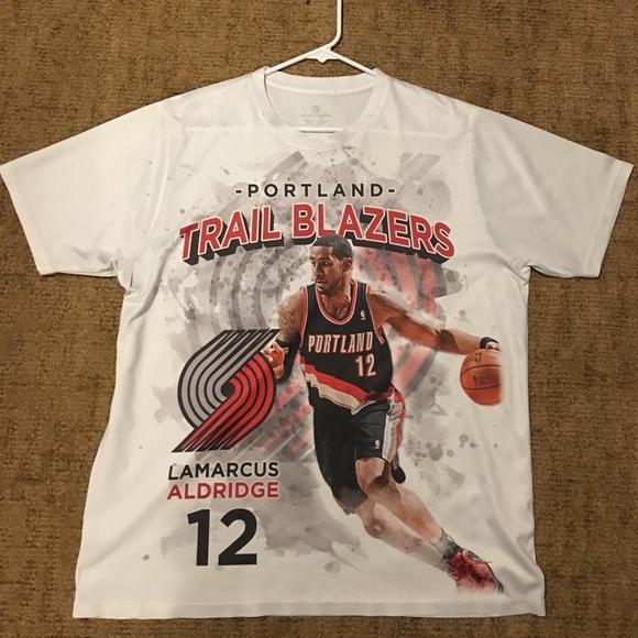 factory authentic f1bf6 d2665 LaMarcus Aldridge Trail Blazers NBA shirt